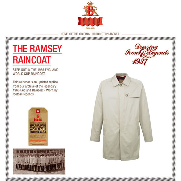 Baracuta G23 'Ramsey' World Cup Raincoat - 1966 edition