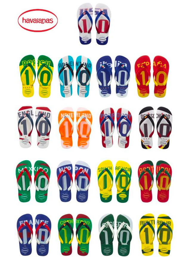 Havaianas Limited Edition 2010 World Cup Sandal Collection