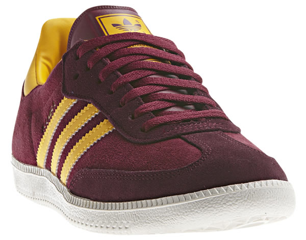 Adidas Samba - Cardinal / Metallic Gold / Ray Yellow
