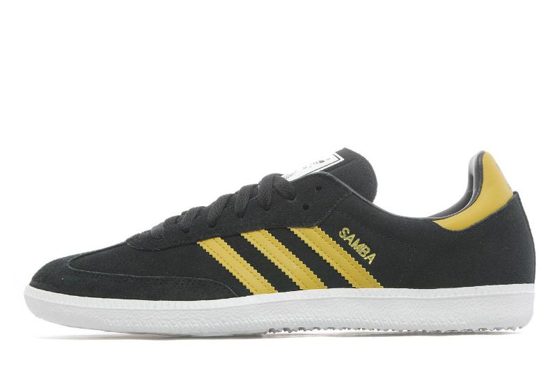 adidas samba black yellow shoes football fashion