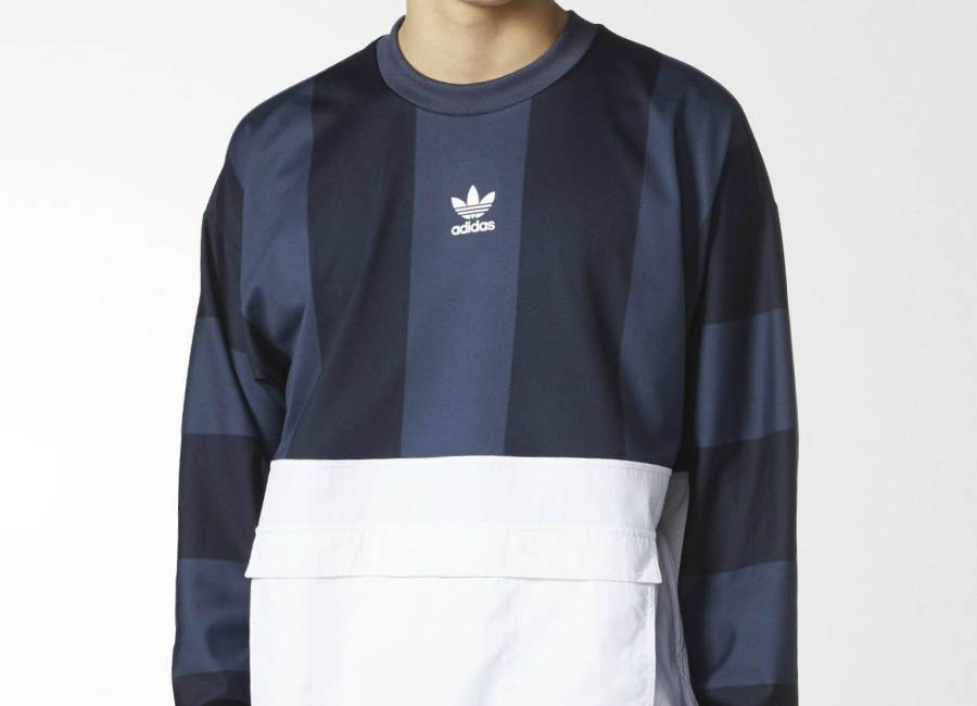Adidas Hybrid Goalie Sweatshirt - Legend Ink / Trace Blue / White
