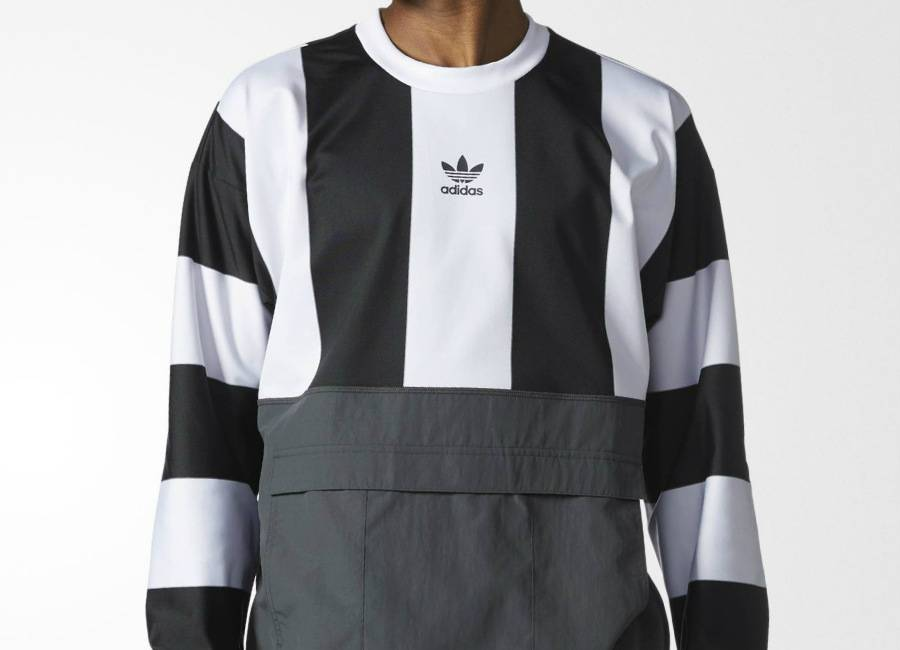 Adidas Hybrid Goalie Sweatshirt - White / Black / Solid Grey