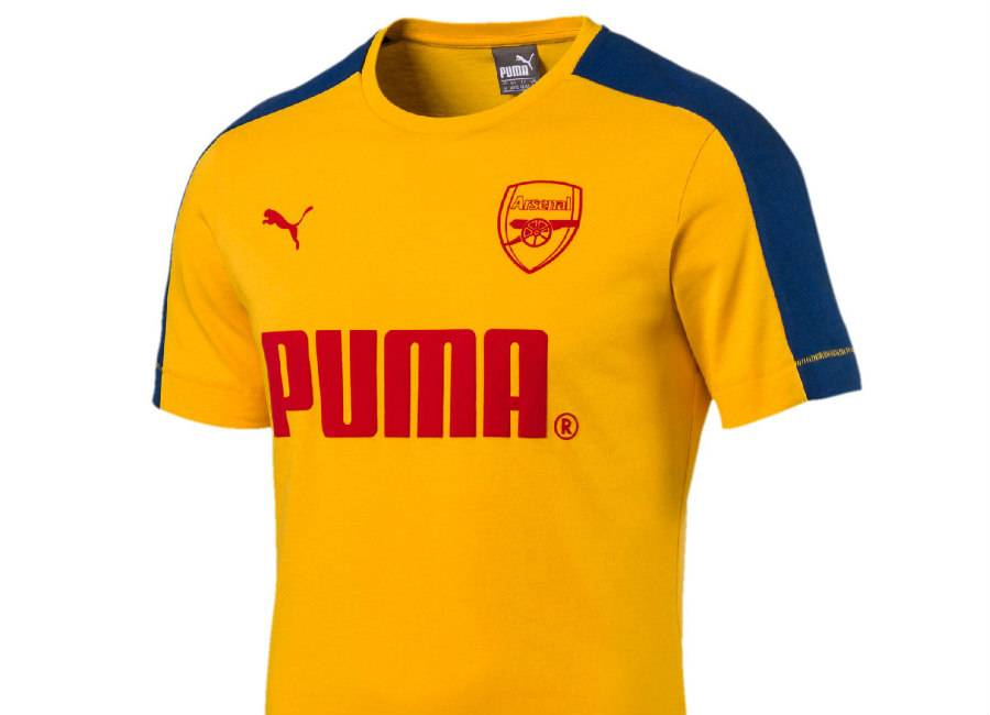 Arsenal FC Puma T-Shirt -  Spectra Yellow / Limoges