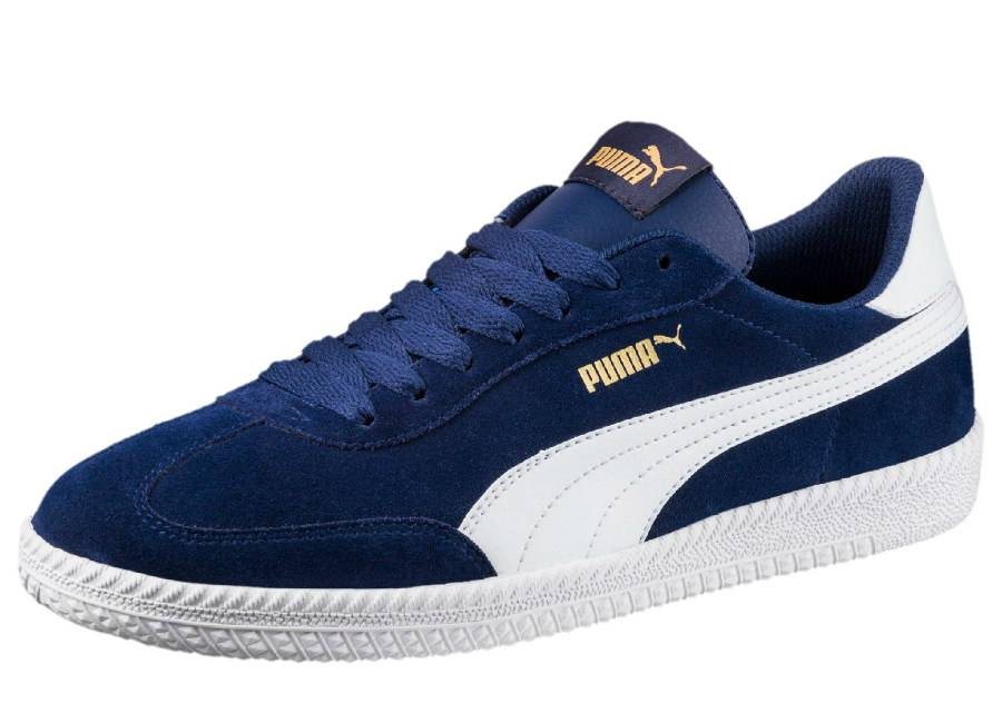 Puma Astro Cup Suede Trainers - Blue Depths / Puma White