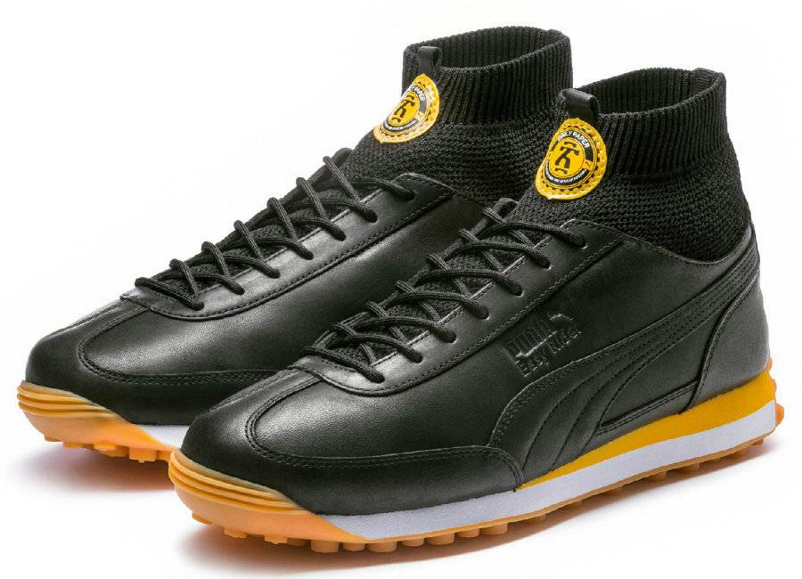 Puma X Daily Paper Easy Rider Leather - Puma Black / Puma Black