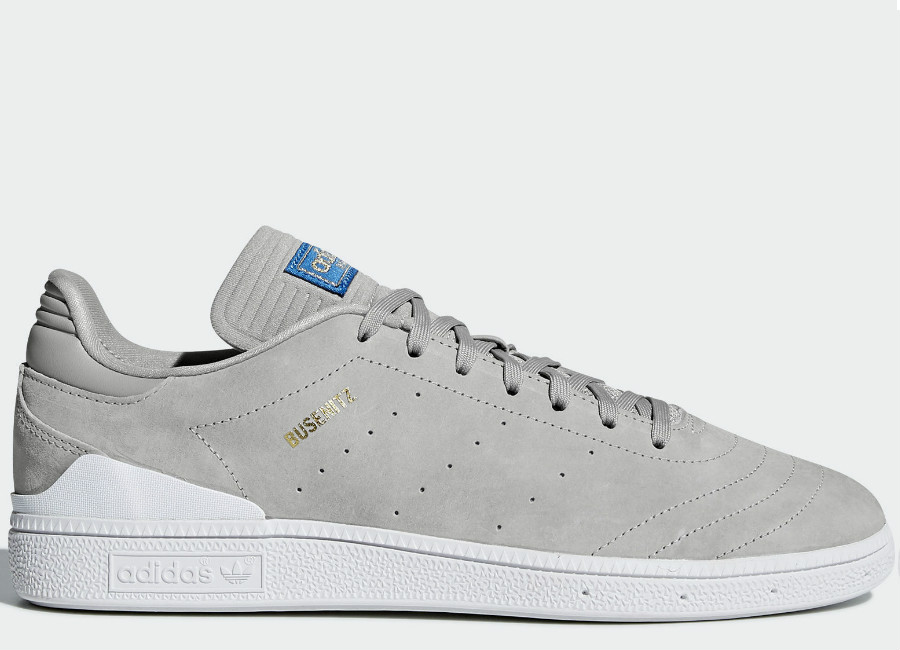 Adidas Busenitz RX Shoes - Mgh Solid Grey / Footwear White / Bluebird