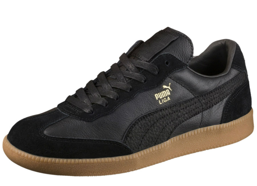 Puma Liga Leather Trainers - Puma Black / Puma Black