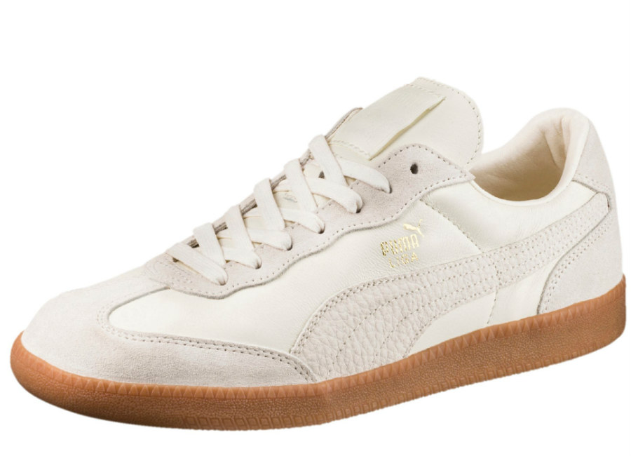 Puma Liga Leather Trainers - Whisper White / Whisper White