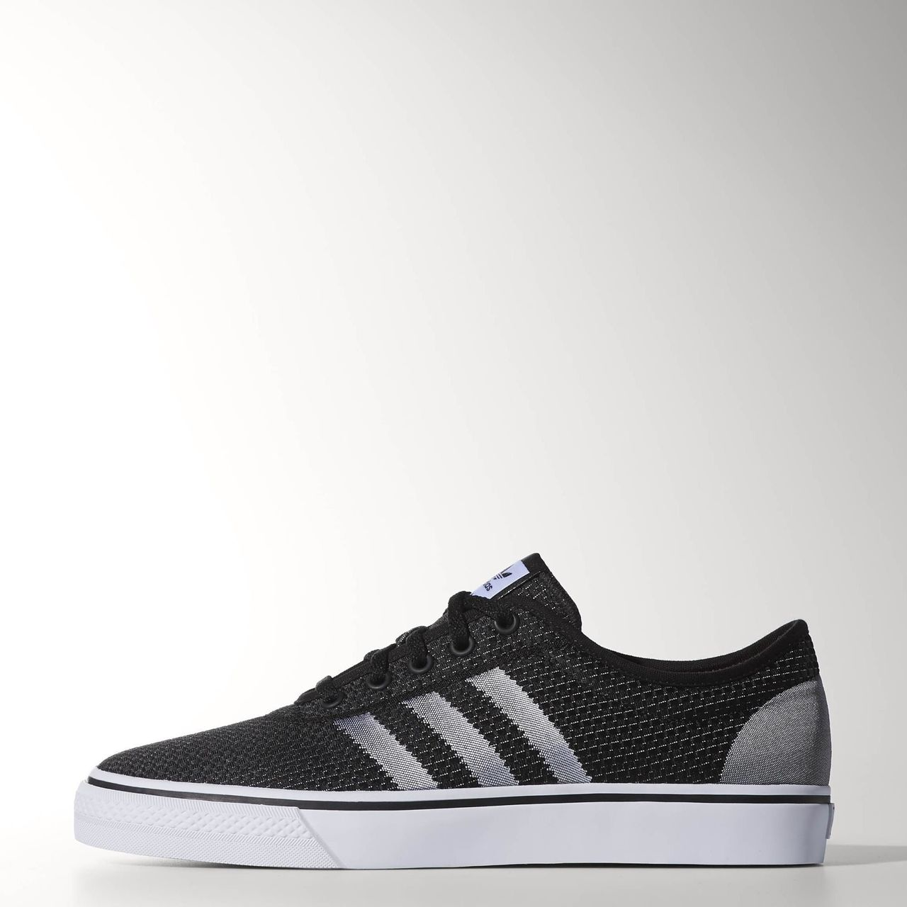 Adidas Black And White Weave Shoes