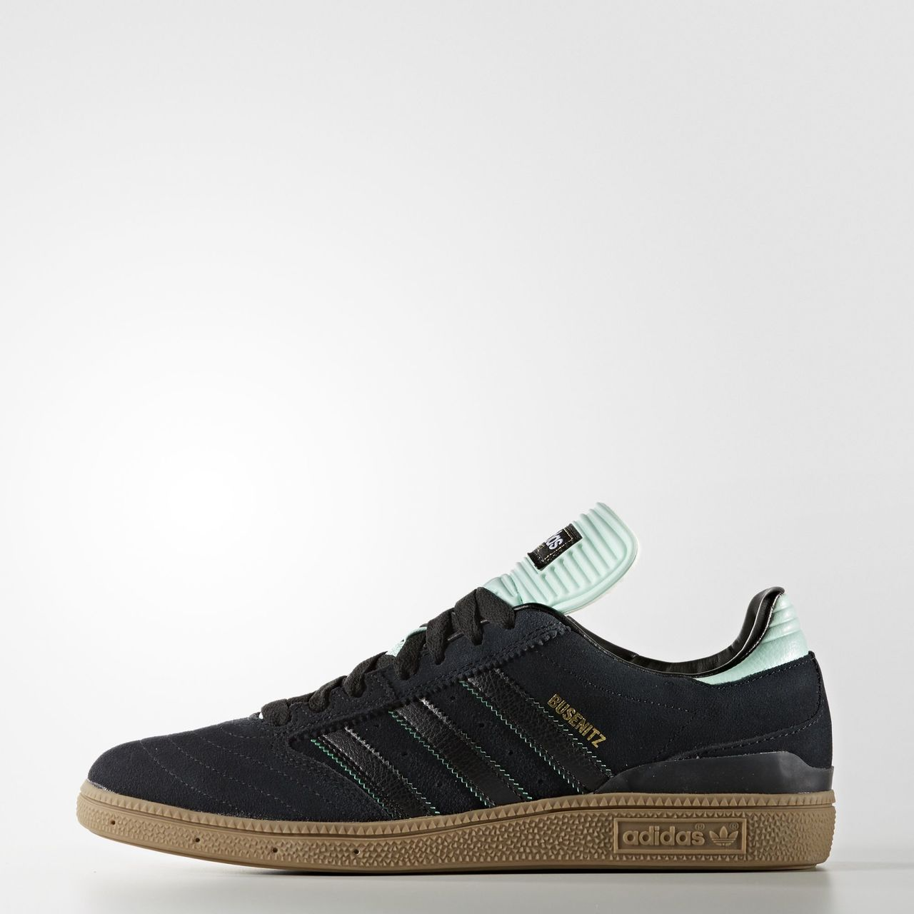 1ac53073007926 Adidas Busenitz Pro Shoes - Core Black   Ice Green   Gum