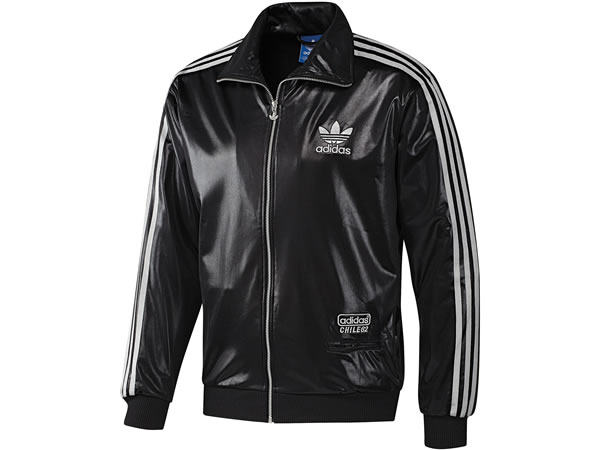 Adidas Chile 62 Track Top - Black / Metallic Silver