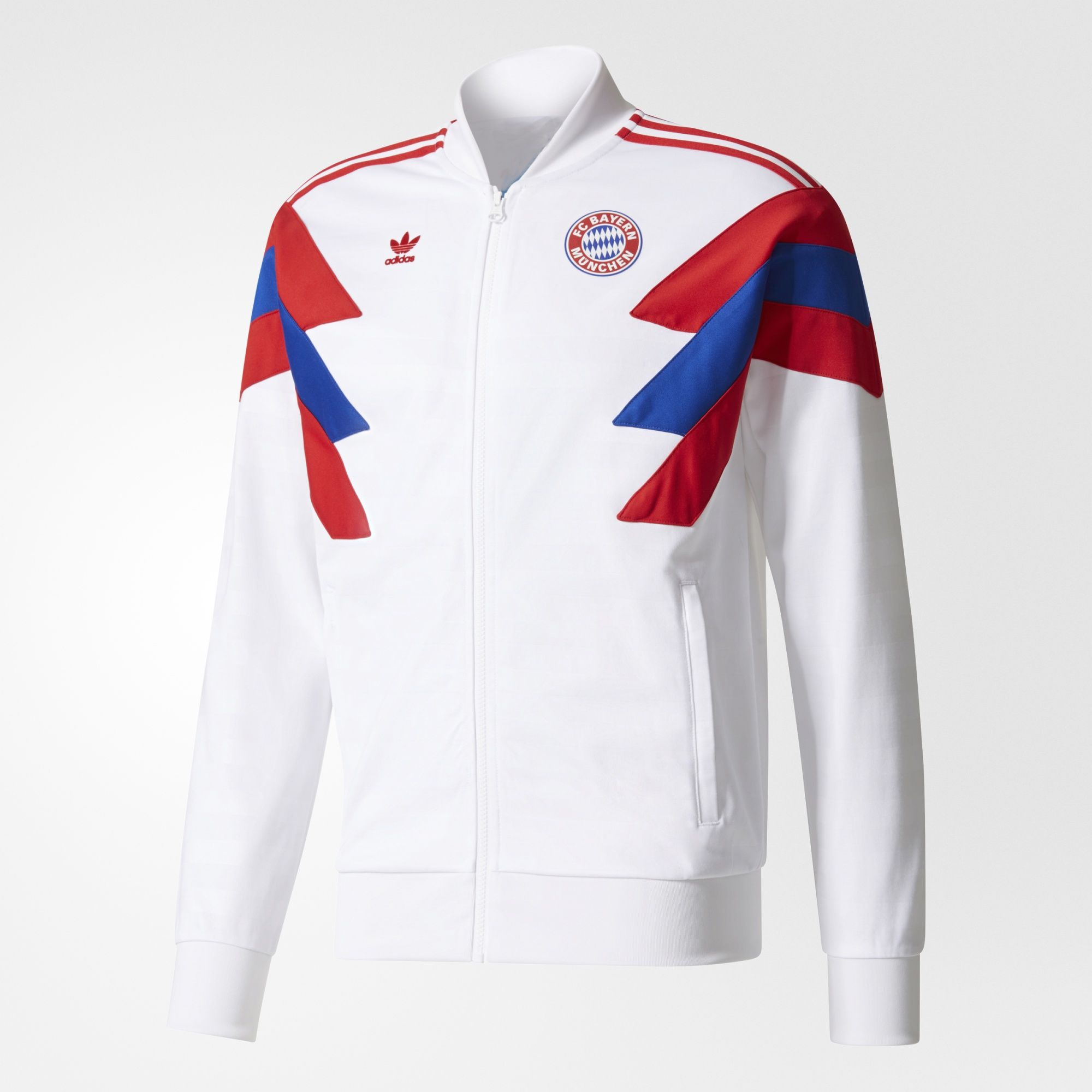 adidas fc bayern munich track jacket white. Black Bedroom Furniture Sets. Home Design Ideas