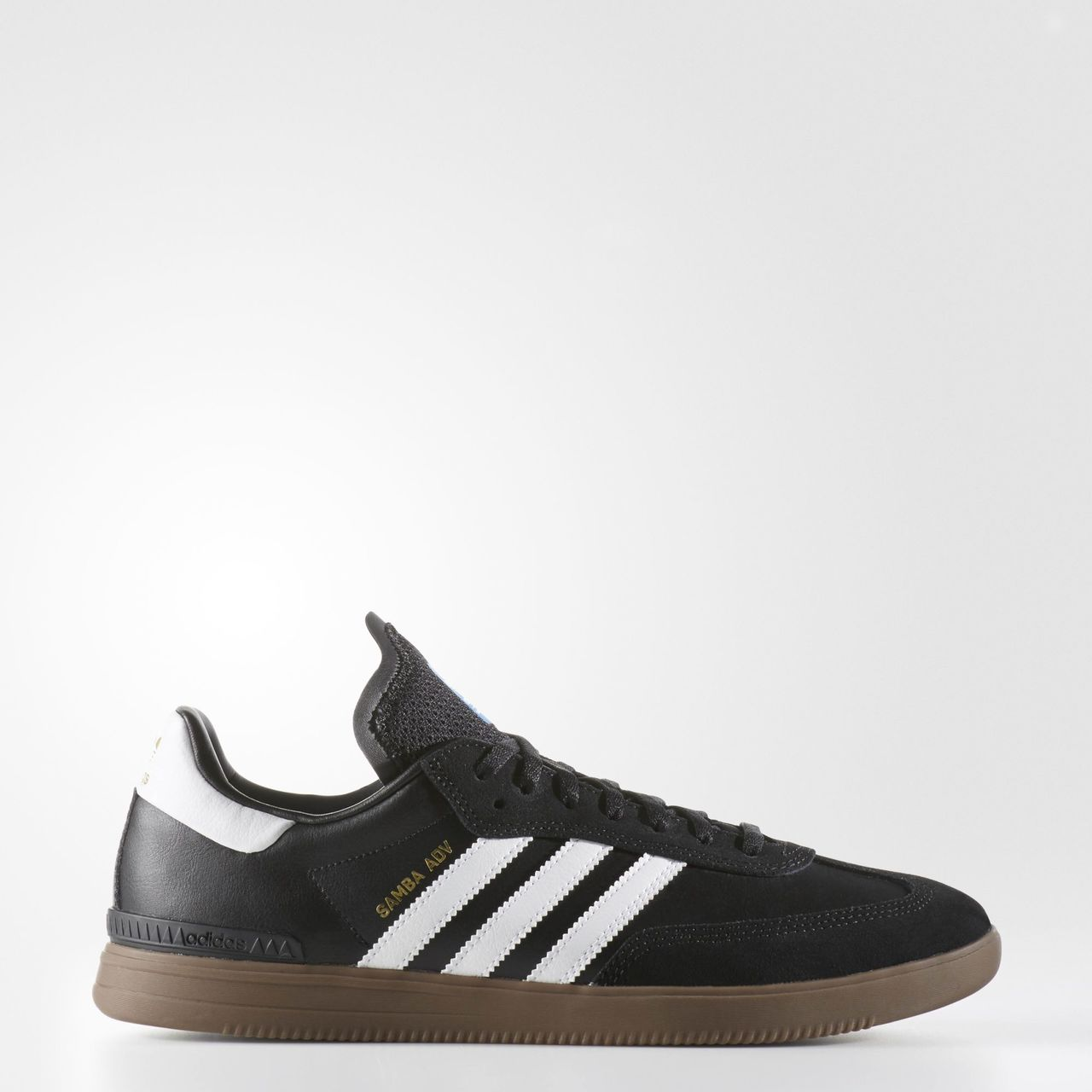 adidas samba adv shoes core black footwear white gum. Black Bedroom Furniture Sets. Home Design Ideas
