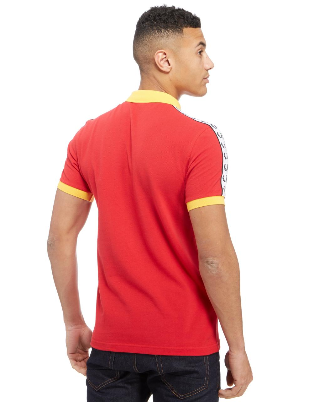 Fred perry spain tape polo shirt red yellow polo 39 s for Spain polo shirt 2014